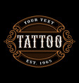 tattoo logo template vector image vector image
