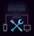 technological equipment configuration tools vector image vector image