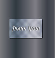 thank you text background vector image
