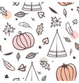 thanksgiving day seamless pattern with indian vector image vector image