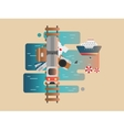 Travel railway and cruise vector image