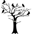 tree crows vector image vector image