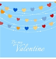 Valentine background with joyful heart bunting vector image