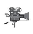 vintage movie film camera retro vector image vector image