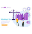 web page design templates for industry teamwork vector image vector image