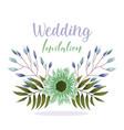 wedding ornament floral decorative green flower vector image vector image