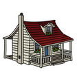 white planked house vector image