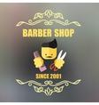 Vintage barber shop badge vector image