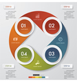 4 steps color banner template vector image
