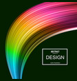 abstract background rainbow curve image vector image vector image