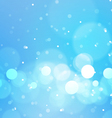 Abstract Bokeh Lights on Blue Background vector image