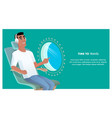 african american man at airplane point porthole vector image vector image