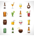 Alcohol Drinks Polygonal Icons vector image