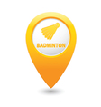 badminton2 MAP pointer yellow vector image