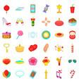 balloon icons set cartoon style vector image vector image
