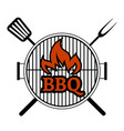 barbecue party label vector image vector image