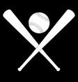 bat and ball vector image