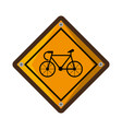 bicycle zone traffic signal vector image