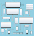 billboard flat set of different perspectives vector image vector image