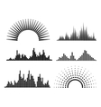 Black musicwaves forms vector image vector image