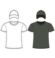 Blank t-shirt and cap template vector image