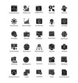 bundle of web and seo glyph icons vector image vector image