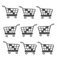 business icon of grocery trolley vector image