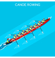 Canoe Coxswain Eight 2016 Summer Games 3D vector image vector image