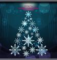 christmas snowflake trees vector image vector image