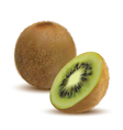 close-up kiwi and kiwi slices vector image
