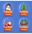 collection christmas glass snow globes vector image vector image