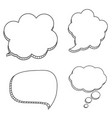 collection set of hand drawn speech bubbles vector image