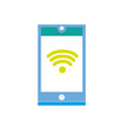 colorful smartphone technology with wifi vector image vector image