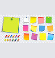 colorful sticky note vector image vector image