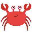 cute crab character icon vector image vector image