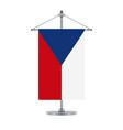 czech flag on the metallic cross pole vector image