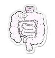 distressed sticker a cartoon surprised vector image vector image
