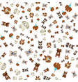 dog wearing celebration hat seamless pattern vector image