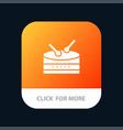 drum celebration mobile app icon design vector image vector image