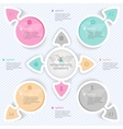 Elements for infographics four options vector image