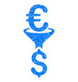 euro dollar conversion filter grunge icon vector image vector image