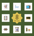 flat icon lifestyle set of router questionnaire vector image