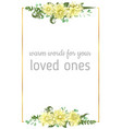 flowers of yellow dahlia fern eucalyptus vector image