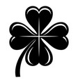 four leaf clover icon simple black style vector image vector image