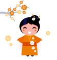 geisha woman vector image vector image
