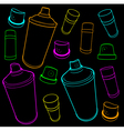 graffiti tools icon collection spray-can and cap o vector image vector image