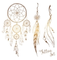 Hand drawn dream catcher vector image
