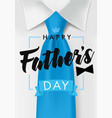 happy fathers day dark teal necktie in blue bow vector image vector image