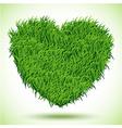 Heart Green Grass vector image