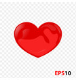 heart icon realistic isolated on a transparent vector image vector image